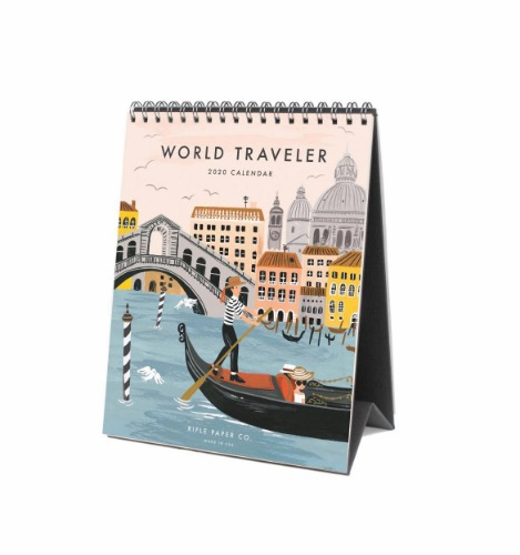 [Rifle Paper Co.] 2020 World Traveler Desk Calendar
