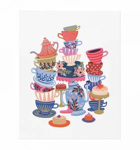 [Rifle Paper Co.] Teacups 8 x 10