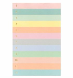 [Rifle Paper Co.] Numbered Color Block Memo Notepad