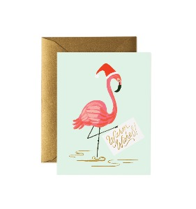 [Rifle Paper Co.] Holiday Flamingo Card