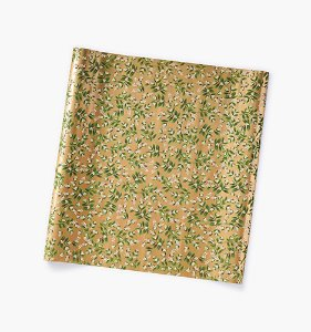 [Rifle Paper Co.] Mistletoe Gold Continuous Wrapping Roll