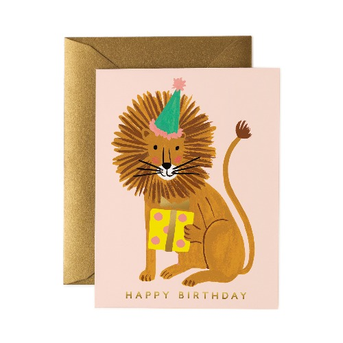 [Rifle Paper Co.] Lion Birthday Card