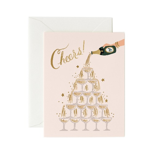 [Rifle Paper Co.] Champagne Tower Cheers Card