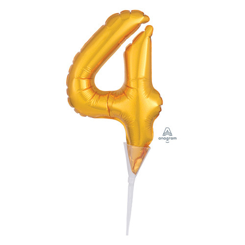 [Anagram] Cake Picks Number 4 Topper