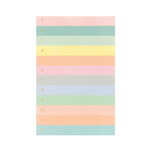 [Rifle Paper Co.] Numbered Color Block Large Memo Notepad