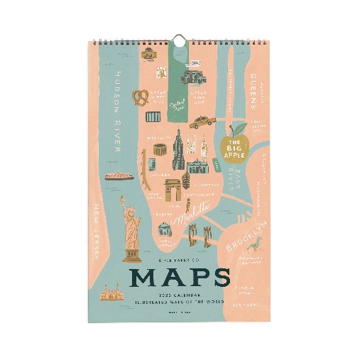 [Rifle Paper Co.] 2020 City Maps Wall Calendar
