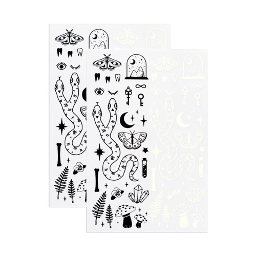 [Tattly] The Curiosities Sheet (Glow-in-the-Dark)