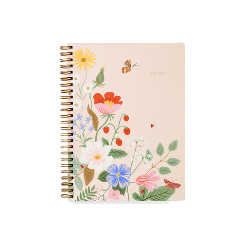 [Rifle Paper Co.] 2021 Strawberry Fields Softcover Spiral Planner