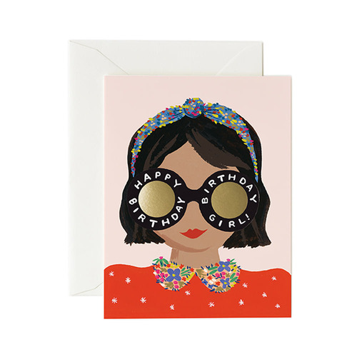 [Rifle Paper Co.] Headband Birthday Girl Card 생일 카드