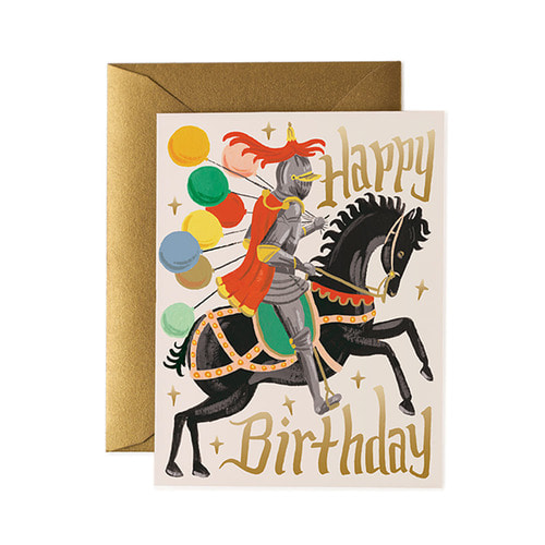 [Rifle Paper Co.] Knight Birthday Card 생일 카드